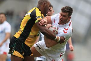 Joe Greenwood in action for England Knights. Picture by Mike Egerton PA