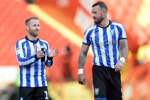 BACK IN THE GAME: Sheffield Wednesday's Barry Bannan and Steven Fletcher.