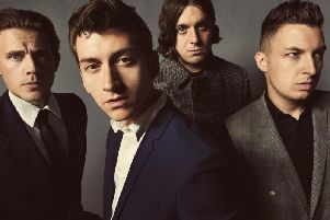 Arctic Monkeys with Alex Turner.
