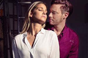 Sarah Harding and  Andy Moss in Ghost The Musical