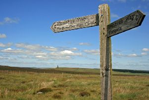 The Pennine Way signpost for Studley Pike.