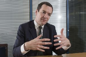 1 December 2016.'George Osborne at William Cook Holdings Ltd, during his visit to their Leeds plant today (Thursday) in support of the Northern Powerhouse initiative.