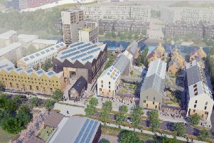 An architect's CGI impression of the new Climate Innovation District in Leeds.