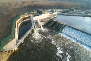 Barn Energy's hydro plant at Thrybergh Weir on the River Don.