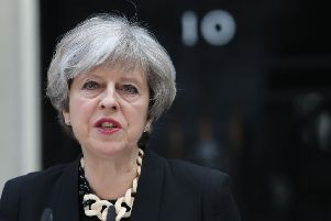 Theresa May addressing the nation after the latest terror attack.