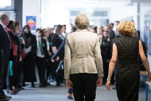 Theresa May during a recent school visit, but did she learn any lessons about public sector pay?