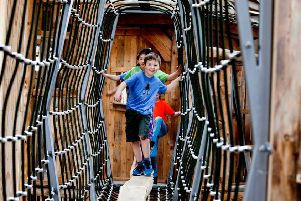 As well as the outdoor areas, there is also an indoor play barn at William's Den.