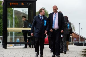 Chris Grayling in Wakefield, Yorkshire