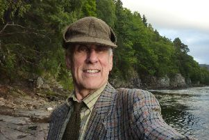 Stewart Calligan by the River Dee. No catches but river music and a fresh pine smell.