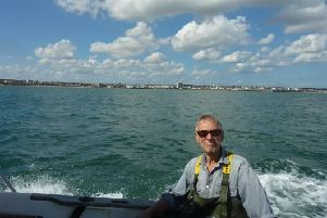 The coastline off Bridlington Bay is best viewed out at sea as Stewart Calligan enjoyed it for the last time in 2017.