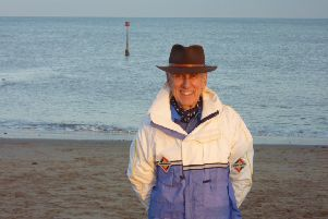 Stewart Calligan on the beach at Mappleton before a welcome trip to the fish and chip shop.