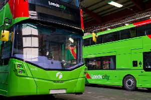 Part of First's new fleet of buses.