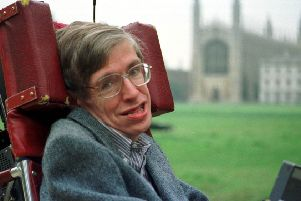 Professor Stephen Hawking, the physicist who became an unlikely celebrity.