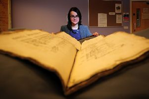 Project archivist Alexandra Medcalf who is part of the Yorkshire Historic Dictionary team. PIC: Simon Hulme