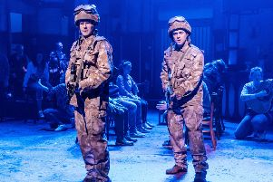 Steven Miller (Davy) and Paul-James Corrigan (Ally) in Sunshine on Leith.
