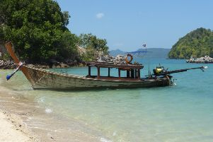 This was a fishing trip by long tail boat for Roger, on a trip to South East Asia.