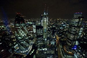 The City of London at night  Photo:  Ian West/PA Wire