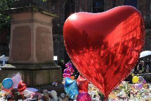 Tributes left after the Manchester bombing last year. PA/Peter Byrne.