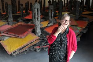 Phyllida Barlow at The Hepworth, Wakefield. Picture by Tony Johnson