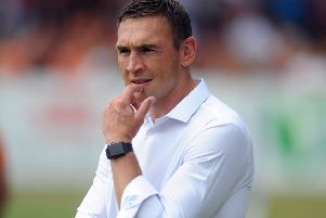 Welcome back: 'Rhinos director of rugby Kevin Sinfield. (Picture: Tony Johnson)