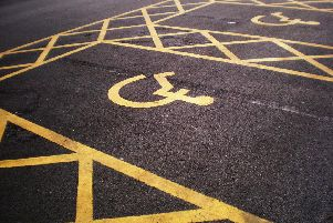 Disability parking bays.