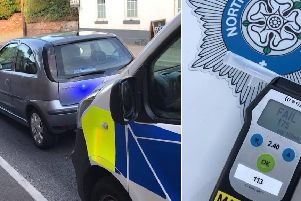 A drink drive arrest in Yorkshire. Photo: North Yorkshire Police