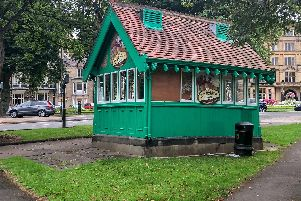 The cabman's shelter at Harrogate's Montpellier Hill.