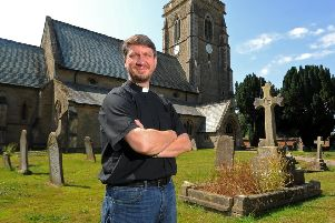 Reverend Richard Parkinson, rector of St Michael's Church, Cherry Burton.