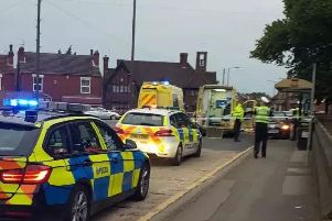 The scene in Bentley last night, following the accident