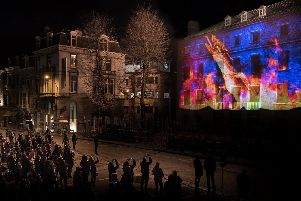 The Forgotten light show pictured at the Ghent Light Festival in Belgium.