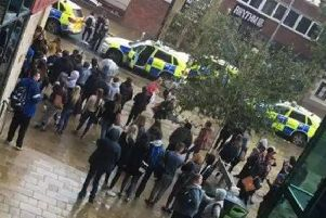 Police at Barnsley College - Credit: Melanie Clarke