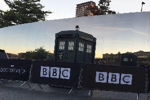 The Tardis outside Sheffield Railway Station - Credit: Craig Ruddlesdin