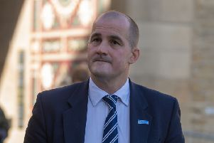 Date: 25th September 2018. Picture James Hardisty. Launch of the new University Business Centre -  Halifax, in Piece Mill, Horton Street, Halifax. Pictured Arriving to the event Jake Berry MP - Minister for the North Powerhouse.