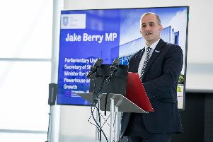 Northern Powerhouse Minister Jake Berry at Sheffield University's Factory 2050 for the opening of three new research centres.