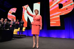 First Minister Nicola Sturgeon at the SNP conference.