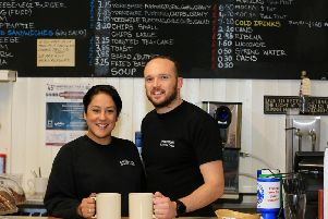 Kulbir Eastwood and her husband Phillip, owners of the Grindleford Station Cafe. Picture: Chris Etchells