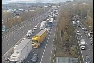 The incident has happened between junctions 33 and 34 of the southbound M1 (photo: Highways Agency).