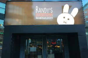 Randy's Hardcore Hamburgers at West One in Sheffield city centre.