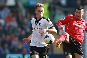 Cauley Woodrow, in action during his time at Fulham. Picture: David Davies/PA.