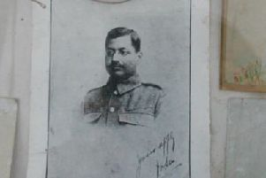 A photo of 'Jon' Sen who fought with the Leeds Pals.