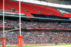 Empty seats during the Ladbrokes Challenge Cup Final at Wembley Stadium, London. PRESS ASSOCIATION Photo. Picture date: Saturday August 25, 2018. See PA story RUGBYL Final. Photo credit should read: Adam Davy/PA Wire. RESTRICTIONS: Editorial use only. No commercial use. No false commercial association. No video emulation. No manipulation of images.