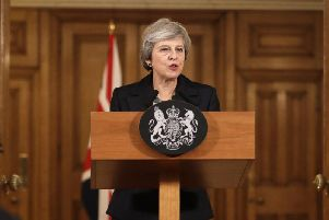 Theresa May holds a press conference at 10 Downing Street
