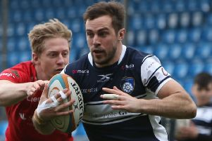 Andy Forsyth, above, showed pace and power against Coventry to create and score tries for visitors Yorkshire Carnegie. PIC: Varley Picture Agency