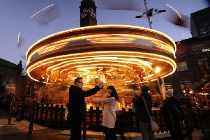 The Golden Gallopers at Leeds Christmas Market.