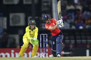 England on the attack during the final of the Women's T20 World Cup against Australia.
