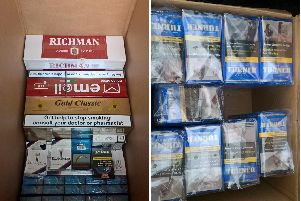 The cigarettes seized by Trading Standards.
