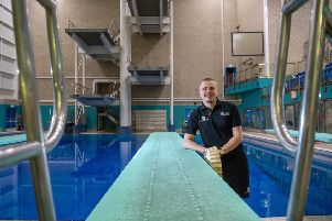 In charge: City Of Leeds Diving Club's new head coach Joe Meszaros. Picture: James Hardisty