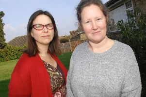 Rebecca Colby and Sarah Hart who have set up Harrogate Afordable Homes Community Land Trust.