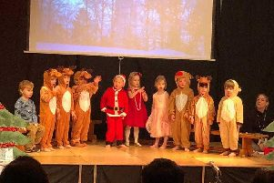 Festive boost: Brackenfield nursery pupils in this years nativity production.