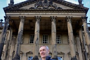 13 November  2018......  Volunteer Jonathan Robinson at Wentworth Woodhouse, the vast country house between Rotherham and Barnsley which has launched an ambitious renovation plan.  Picture Tony Johnson.